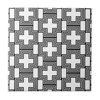 Queres unbedeutendes Schwarzweiss-geometrisches Fliese