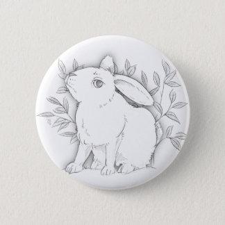 Querhäschen Runder Button 5,1 Cm