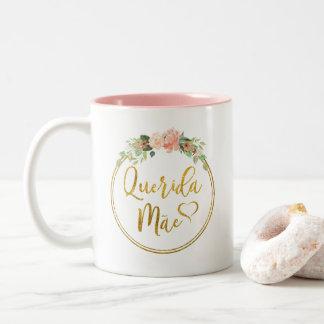 Querida Mãe Kaffee-Tasse - Portugiese Zweifarbige Tasse