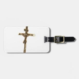 QuerJesus Christusgold horizontal Gepäckanhänger