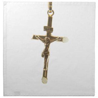 QuerJesus Christusgold horizontal Stoffserviette
