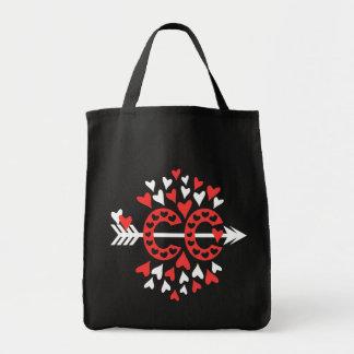Querland-laufende Liebe Einkaufstasche