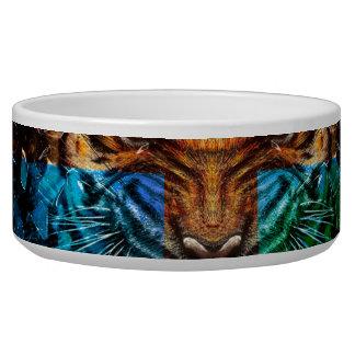 Quertiger - verärgerter Tiger - Tigergesicht - Napf