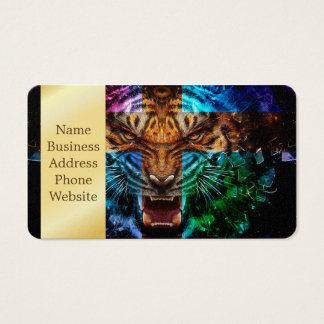 Quertiger - verärgerter Tiger - Tigergesicht - Visitenkarte