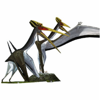 Quetzalcoatlus Familien-Foto-Skulptur Gregory Paul Freistehende Fotoskulptur