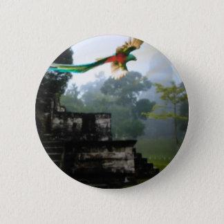 Quetzel in Tikal Runder Button 5,1 Cm