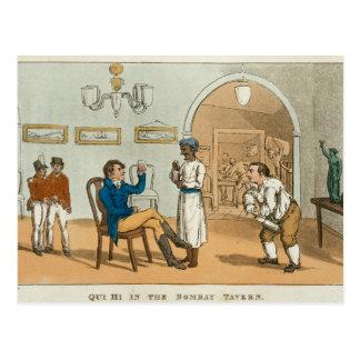 Qui hallo in der Bombay-Taverne, 'vom großartigen Postkarte