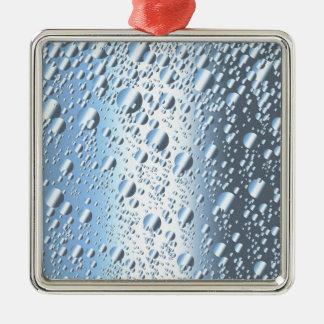 Quicksliver Mercury Blasen Quadratisches Silberfarbenes Ornament