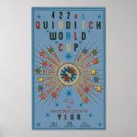 Quidditch Weltmeisterschaft-Blau-Plakat