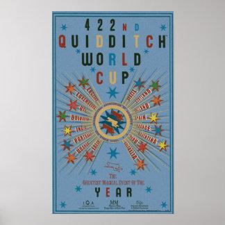 Quidditch Weltmeisterschaft-Blau-Plakat Poster