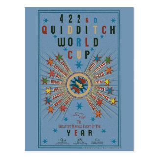 QUIDDITCH™ Weltmeisterschaft-Blau-Plakat Postkarte