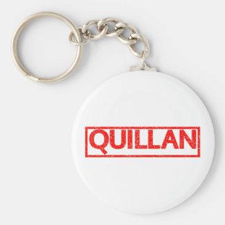Quillan Briefmarke Schlüsselanhänger