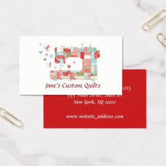 Quilter Nähmaschine-Visitenkarten Visitenkarte