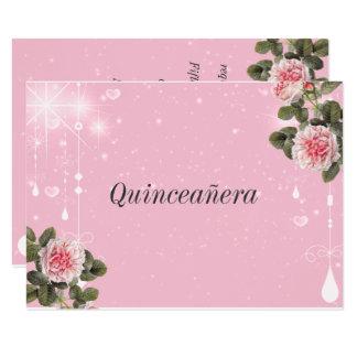 Quinceanera, 16. Geburtstag, Schläger Mitzvah 11,4 X 15,9 Cm Einladungskarte