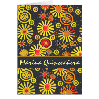 Quinceañera Geburtstags-Party-Feier Karte
