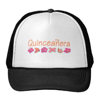 Quinceanera (Pfirsichfarbe) Netz Caps