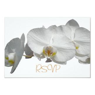 Quinceanera UAWG Gast-Antwort-Weiß-Orchideen 8,9 X 12,7 Cm Einladungskarte