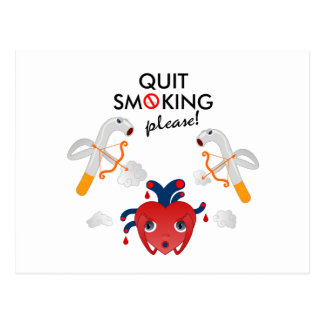 Quit bitte rauchend postkarte
