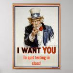 """Quit simsen in der Klasse"" Klassenzimmer-Plakat Poster"