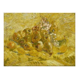 Quitten-Zitronen-Birnen-Trauben durch Van Gogh