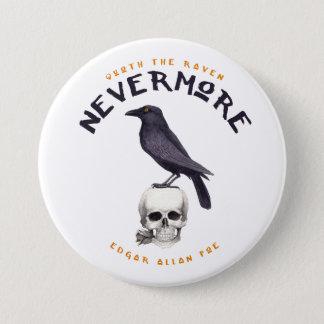 Quoth der Rabe nie wieder - Edgar Allan Poe Runder Button 7,6 Cm