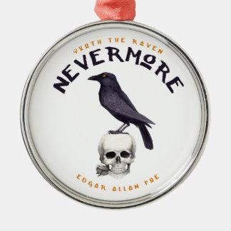 Quoth der Rabe nie wieder - Edgar Allan Poe Silbernes Ornament