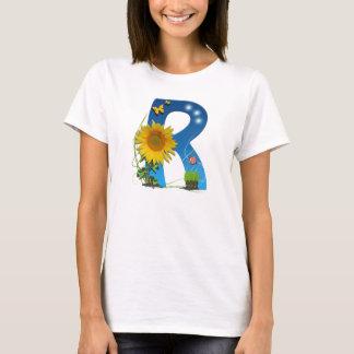 R-Buchstabesonne-Blume T - Shirt