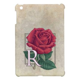 R für Rosen-Blumen-Monogramm iPad Mini Hülle