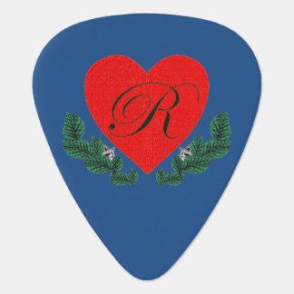 R in einem Herzen Plektrum