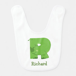 R ist für Nashorn-Baby-Schellfisch Babylätzchen