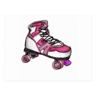 R ist für Rollerskate Postkarte