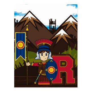 R ist für römischen Soldaten Postkarte