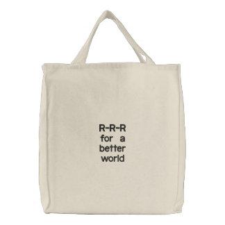 R-R-R für eine bessere Welt Leinentasche