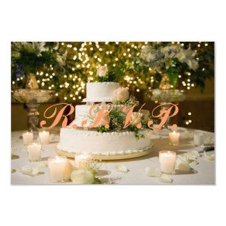 R.S.V.P. Karte--Hochzeitstorte Karte