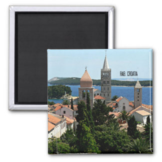 Rab, Kroatien-Landschaftsphotographie Quadratischer Magnet