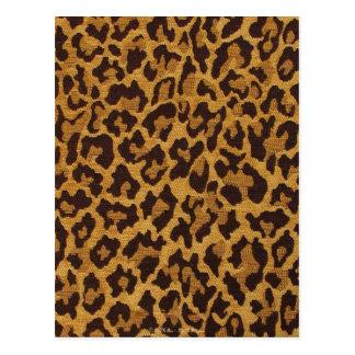 RAB Rockabilly Leopard-Druck-Brown-Gold Postkarte