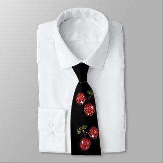 RAB Rockabilly sehr Kirschkirschen auf Schwarzem Krawatte