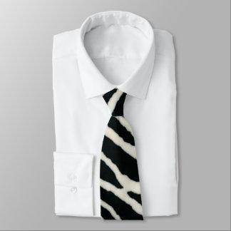RAB Rockabilly Zebra-Druck-Schwarzes u. Weiß Krawatte