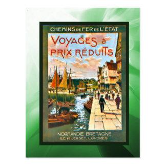 Rabattreisen nach Bretagne und Normandie Postkarte
