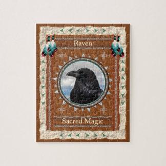 Rabe - heiliges magisches Puzzle mit Geschenkboxen