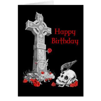 Rabe, Kreuz und Schädel Mitteilungskarte