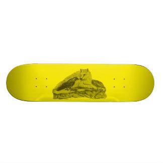 Rabe mit Wolf schwarz gelb Design Personalisierte Skateboarddecks
