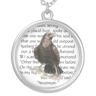 Rabe über Gedicht Edgar Allen Poe nie wieder Halskette
