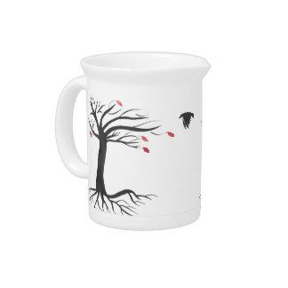 Rabe und Baum Krug