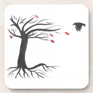 Rabe und Baum Untersetzer