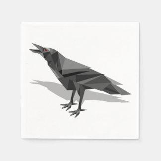 Rabegeometrische Cubist-Grau-Dreiecke Papierservietten
