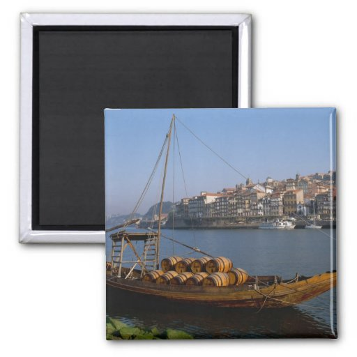 Rabelo Boote, Porto, Portugal Kühlschrankmagnet
