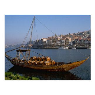 Rabelo Boote, Porto, Portugal Postkarten