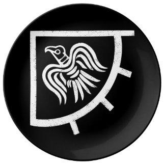 Raben-Fahnen-Viking-Flagge Porzellanteller