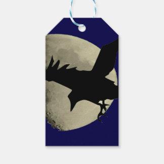Raben-Fliegen über dem Mond Geschenkanhänger